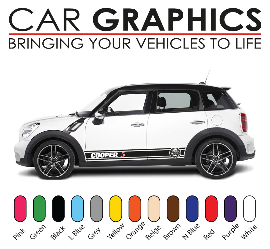 Mini cooper car graphics decals stickers cooper vinyl ...