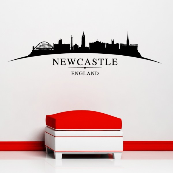 Newcastle city skyline wall stickers landscapes art decal sl4