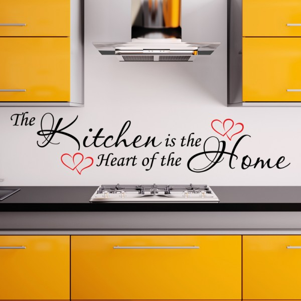 the kitchen is the heart of the home wall sticker. Black Bedroom Furniture Sets. Home Design Ideas