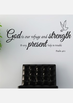 God, Strengh, Present Wall sticker