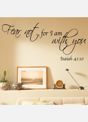 Fear not for I am with you Bible Wall Sticker