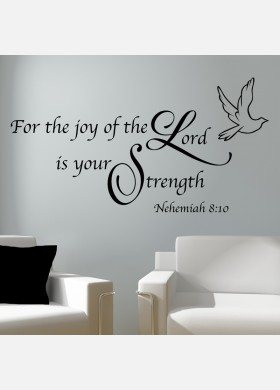 For the joy of the Lord Wall Sticker