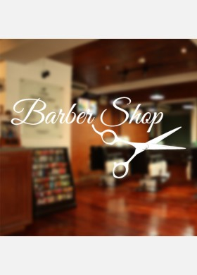 Barbers Shop wall sticker With Scissors Decal