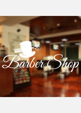 Barbers Shop wall sticker With accessories Decal
