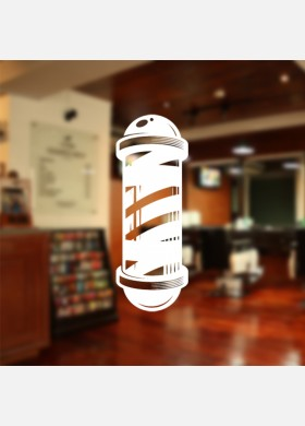 Barbers Shop pole wall sticker Decal