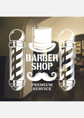 Barber Shop wall sticker hipster beard graphics quote decal art bb25