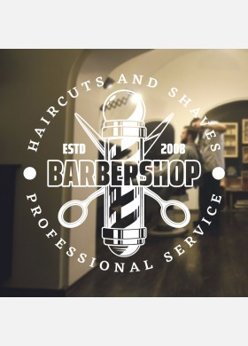 Barber Shop wall sticker hipster beard graphics quote decal art bb27