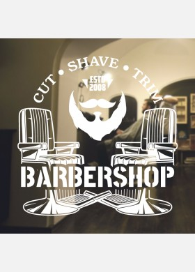Barber Shop wall sticker hipster beard graphics quote decal art bb28