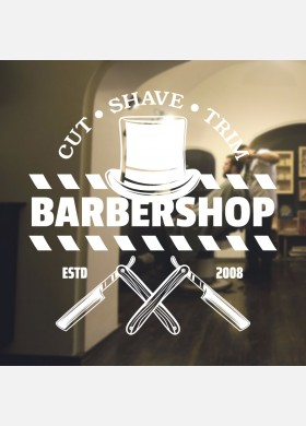 Barber Shop wall sticker hipster beard graphics quote decal art bb29