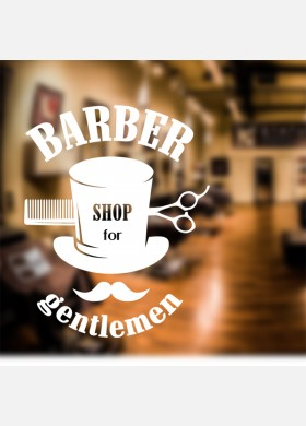 Barber Shop Wall Sticker
