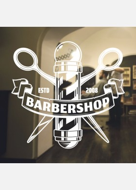 Barber Shop wall sticker hipster beard graphics quote decal art bb30