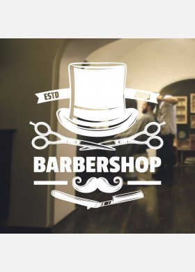 Barber Shop wall sticker hipster beard graphics quote decal art bb31