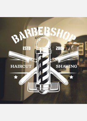 Barber Shop wall sticker hipster beard graphics quote decal art bb35
