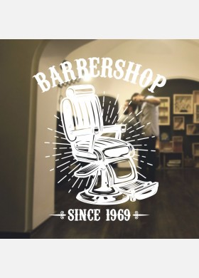 Barber Shop wall sticker hipster beard graphics quote decal art bb39