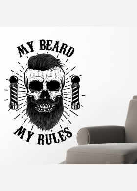 Barber Shop wall sticker hipster beard graphics quote decal art bb40