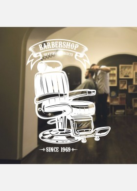 Barber Shop wall sticker hipster beard graphics quote decal art bb41