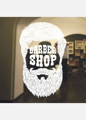 Barber Shop wall sticker hipster beard graphics quote decal art bb44