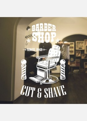 Barber Shop wall sticker hipster beard graphics quote decal art bb47