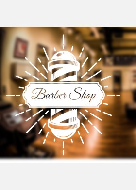 Barber Shop Pole Wall Sticker