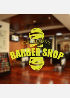 Gentlemen's Barber Shop Wall Decal