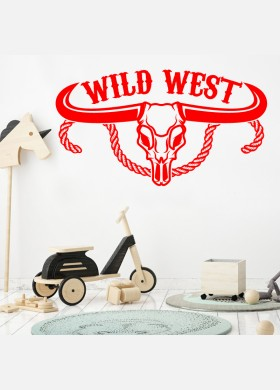 Cowboys Wall Sticker Kids wild west indians Boys Bedroom Decal cb8