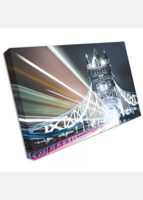 LONDON TOWER BRIDGE RED BUS CANVAS PRINT PICTURE WALL ART FREE FAST DELIVERY cit39