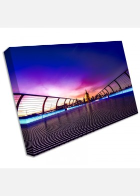Millennium Bridge London St Pauls Canvas Art Cheap Wall Print Large cit42