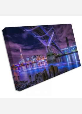 London Shard Skyline from bridge Print Pictures Canvas Wall Art Prints Unframed cit43