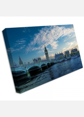 LONDON BRIDGE BIG BEN CANVAS PICTURE PRINT WALL ART LARGE cit44