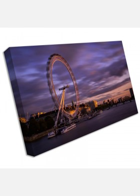 London Eye Westminster City SINGLE CANVAS WALL ART Picture Print cit46