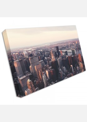 NEW YORK CITY Manhattan Skyline Canvas Print Pictures Wall Art Prints cit47