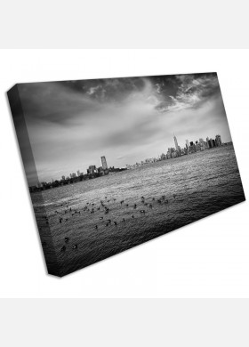 Large Empire State Building New York Skyline Canvas Wall Art Print water cit48