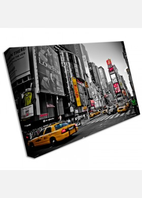Large New York Taxi Yellow Canvas Wall Art Pictures For Home Interiors cit49