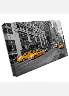 Iconic New York Taxi Canvas Art Print wall stretch framed cit51