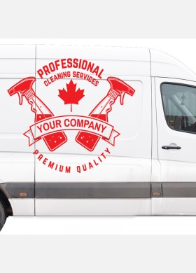 Custom Cleaning company wall sticker van service graphics decal art cl2