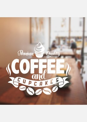 Coffee and Cake Wall Sticker