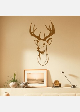 Stags head antlers deer trophy Wall Sticker
