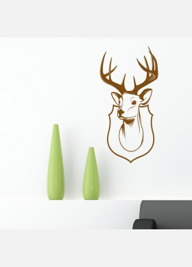 Deer head antlers Stag trophy Wall Sticker