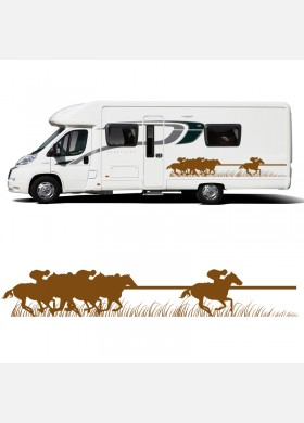 Horse Box Trailer Racing Sticker