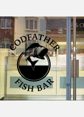 Personalised fish and chip shop sign