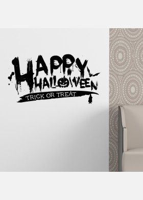 Happy Halloween Trick or Treat Vinyl Sticker