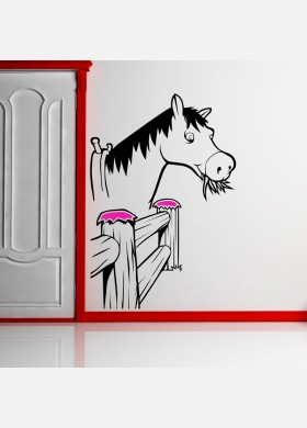 Horse by fence Sticker