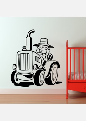 Farmer On Tractor Wall Sticker