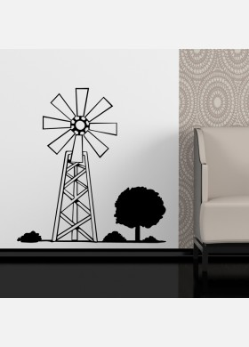 Wind Turbine Wall Sticker