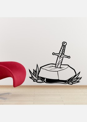 Sword In Stone Wall Sticker