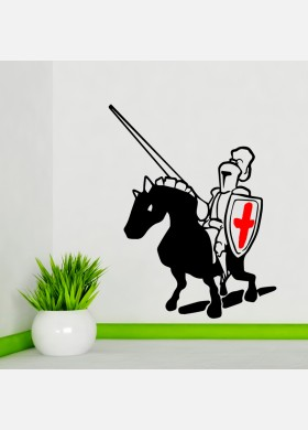 Knight On Horse Wall Sticker