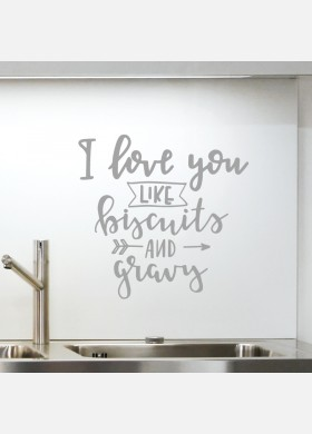 I love you like biscuits kitchen wall sticker quote decal art