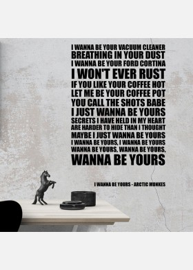Arctic Monkeys I Wanna be Yours Song Lyrics Typography Wall Sticker Decal Vinyl Artwork Graphics l111