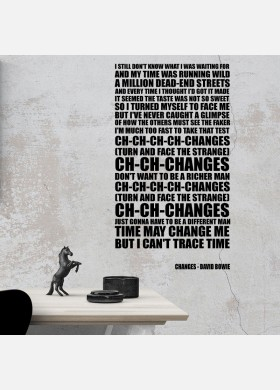 David Bowie Changes Typography Wall Sticker Decal Vinyl Artwork Graphics l118
