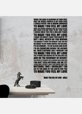 Adele Make You Feel My Love Wall Sticker Decal Vinyl Artwork Graphics l122